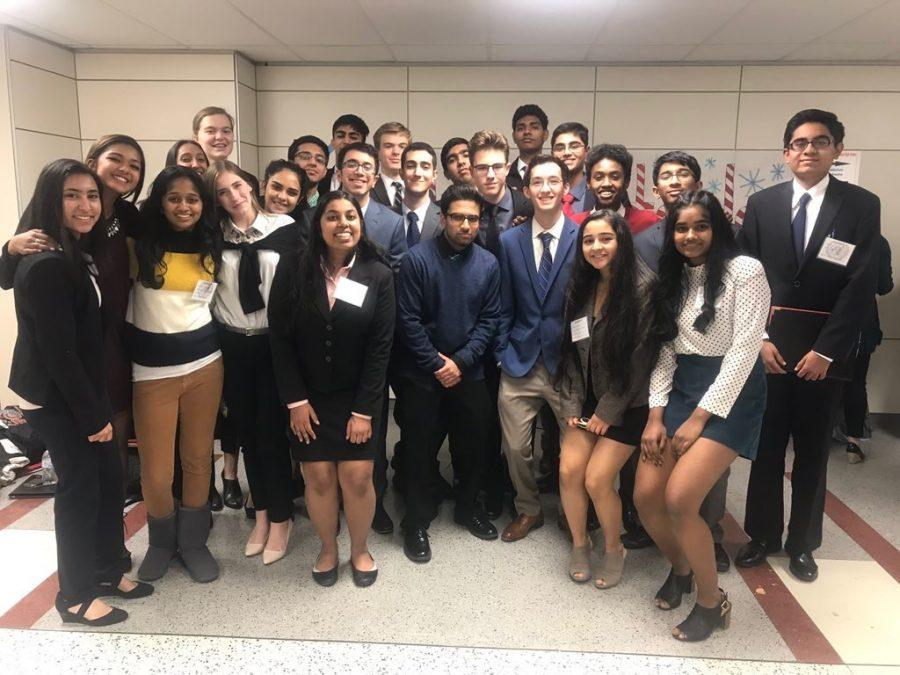 The Freedom Model United Nations team at a conference in Alexandria, Virginia on December 8.