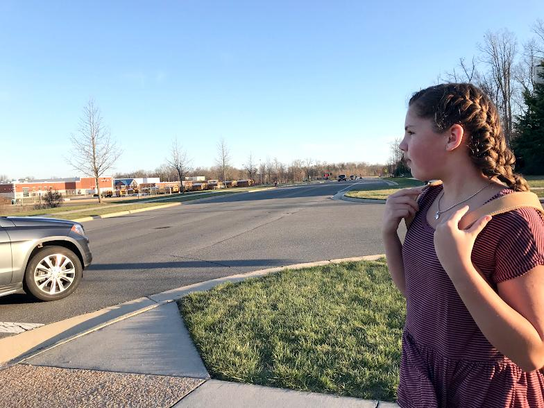 Students at Freedom often need to cross Riding Center Drive to get to school. The crosswalk is very dangerous at times and it makes me never want to cross the street, Ella Roney said. Deputies, such as Jason Gadel, are trying to make crossing the Freedom Crosswalk more efficient.