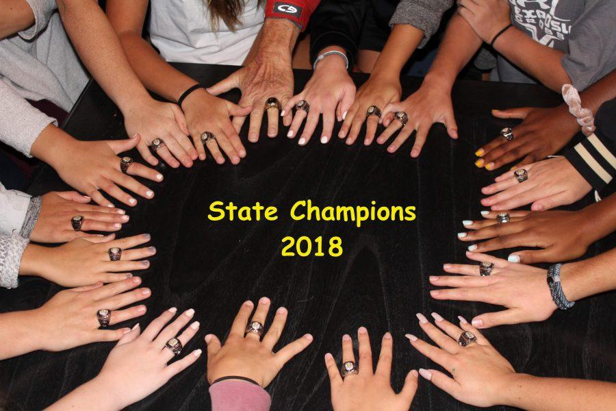 The team will receive recognition for their championship win at the football game on Friday the 21st.