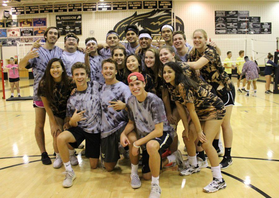 Seniors+from+Team+B+took+the+Powder+Puff+victory.+