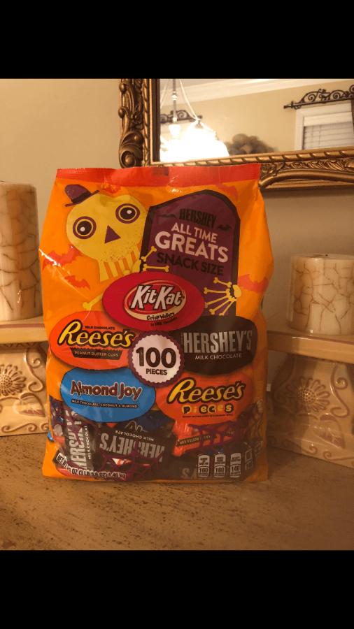 A+Halloween+candy+bag+full+of+treats.