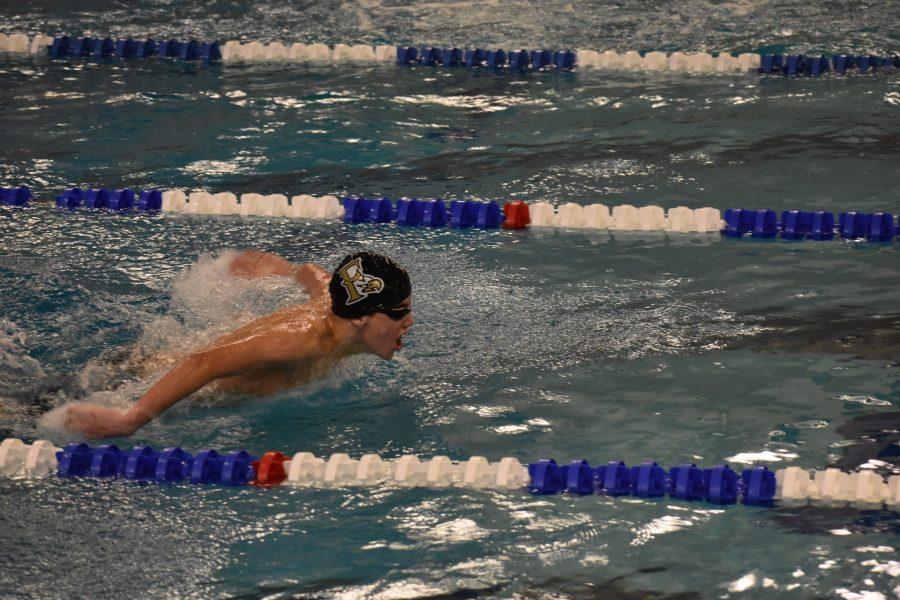 Member+of+the+FHS+swim+team+during+their+meet+against+Woodgrove.