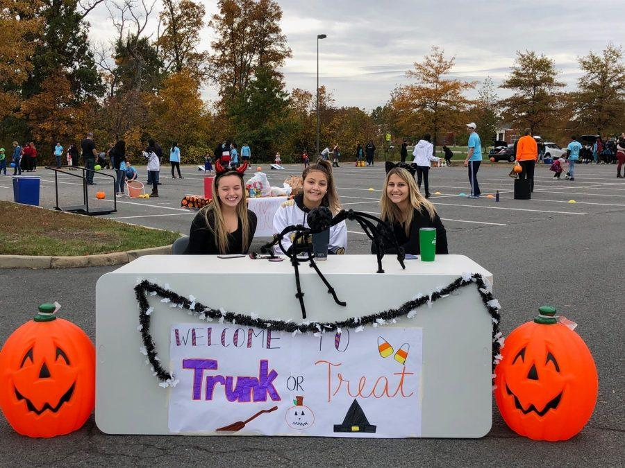 Juniors Katie Gibbs, Julia Abdelrazaq and Sydney Jack represent Trunk or Treat! All photos provided by Michelle Kwan.