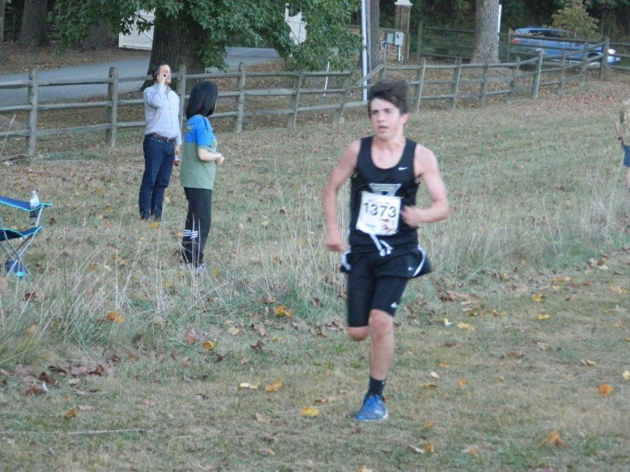 Danny Rutler sprinting to the finish at Oatlands Plantation.