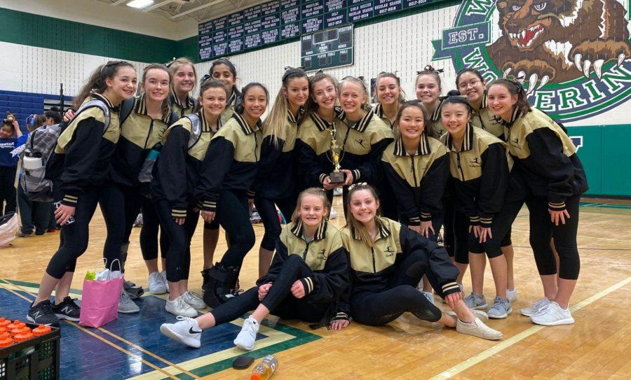 Picture provided by Riley Waldrop.  The Freedom Gymnastics team wins the VHSL Regional Championship and will competing on Feb. 21 for the state title.