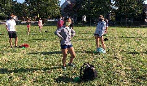 Freedom students prepare for their first scrimmage with the running club. Photo provided by Chloe Collins