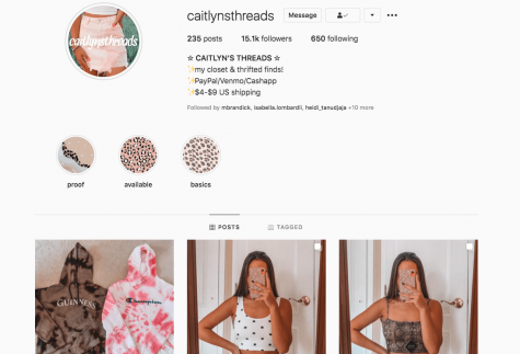Photo provided by Caitlyn Jackson.  Twelve month later, Caitlyns Threads is still on the rise.