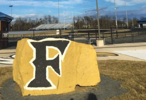 All the classic start of the school year traditions like the painting of the rocks look a little different this year. Photo Provided by Morgan Maiden