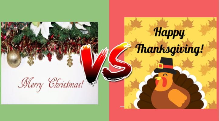 Team Christmas or Team Thanksgiving? The great debate of when the holiday season should be celebrated has arrived. Photo illustration by Bailey Elliott.