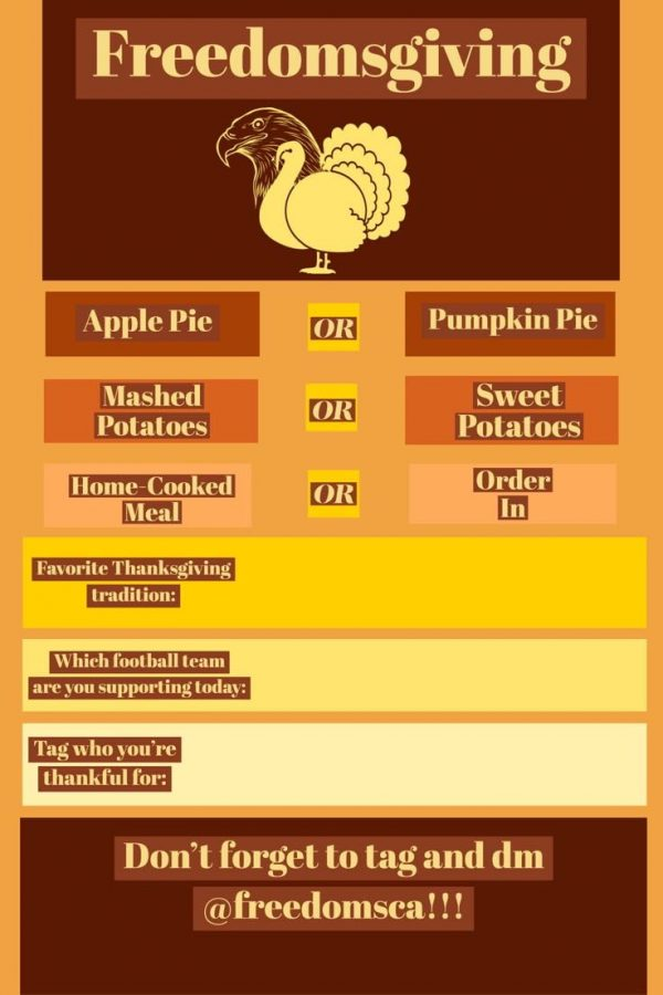 The Freedomsgiving template created by Taylor Lech used by SCA.