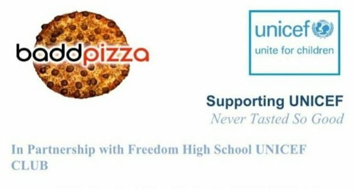 The+fundraiser+was+held+with+Baddpizza+on+February+22nd+and+25th.+Screenshot+from+the+UNICEF+instagram.+