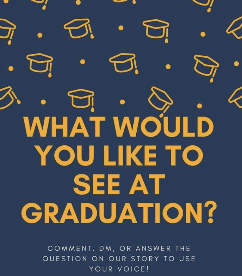 Image showing how seniors can communicate with their class representatives on graduation provided by the FHS class of 2021 Instagram.