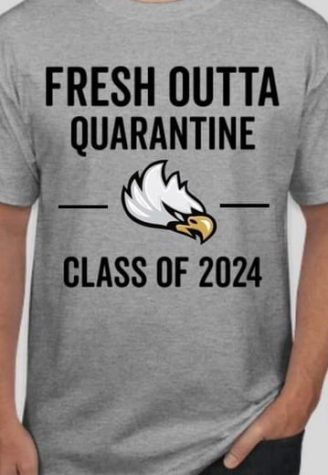 Freedom class of 2024 class officers created a class shirt that accurately encapsulated their unconventional freshman year.