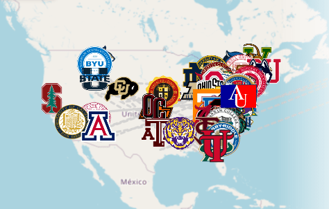 Screenshot taken from the Uncaged class of 2021 senior map.   The FHS class of 2021 is off to many different colleges around America! Congrats seniors!