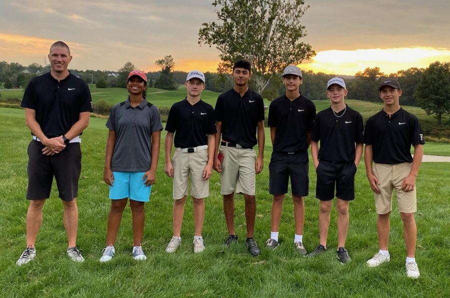 The Freedom High School golf team at their districts on Tuesday, Sept. 28. Photo provided by Kaurvaki Bajpai.