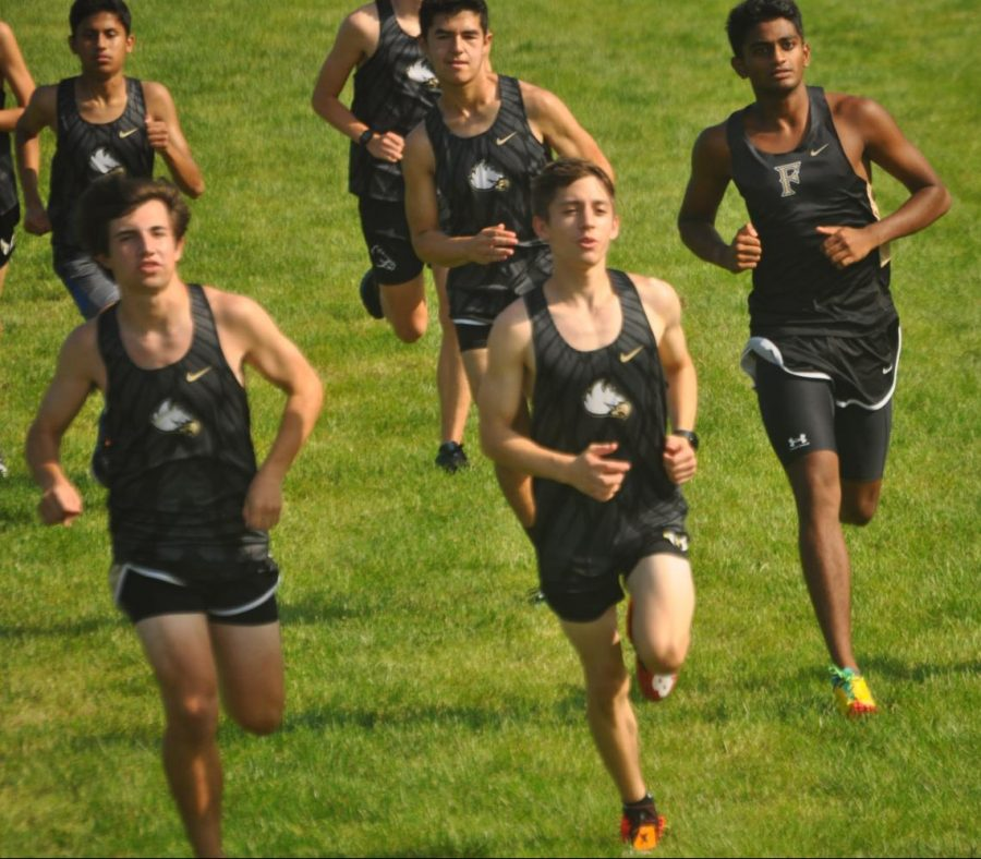 Freedoms Cross Country team participates in a meet Rock Ridge. Photo by Courtney Davis.