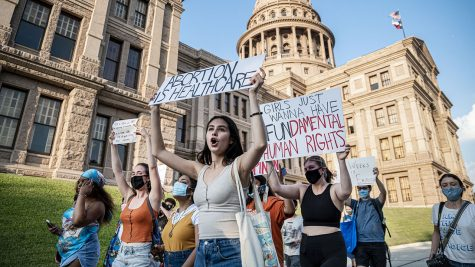 Pro-choice activists march outside the Texas State Capitol on Sept. 1, 2021. Photo provided by foxnews.com