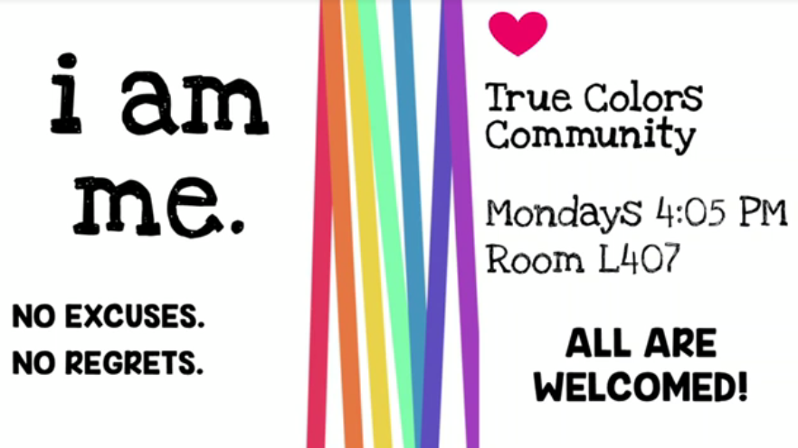 The True Colors club poster. Photo provided by the True Colors club.