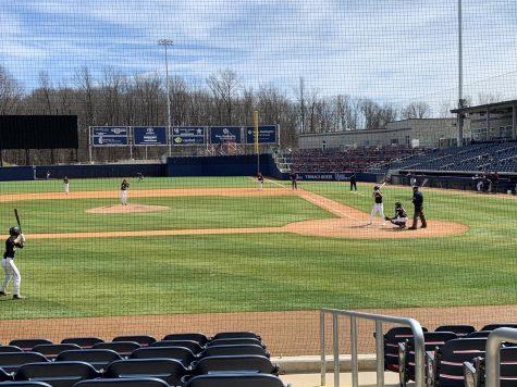 FHS Fall Baseball team playing the field! Photo by Emily Marohn.