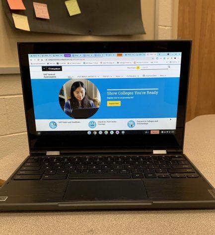 Homescreen of the SAT website. Photo taken by Max Villegas.