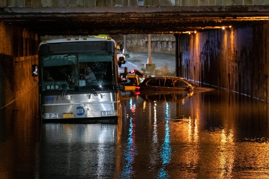 Cars in New York City submerged in water from Ida. Photo provided by nytimes.com